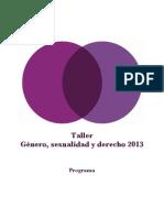 Programa Taller DSyR 2013