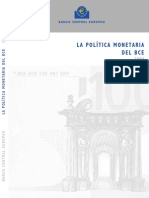 la política monetaria del banco central europeo