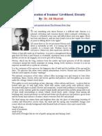 Norouz; Declaration of Iranians' Livelihood, Eternity - Ali Shariati