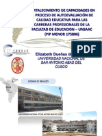 Elizabeth Dueñas - Fortalecimiento de Capacidades en el Proc