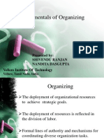 Fundamentals Of Organizing (Departmentalization, Centralization/Decentralization etc) and Organizational Structure (Organic and Mechanical Model).