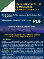 AGRICULTURA SUSTENTÁVEL UM NOVO MODELO DE DESENVOLVIMENTO AGRÍCOLA