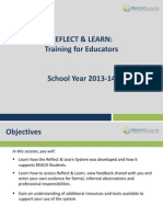 reflect  learn training for educators 1314 webinar