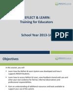 reflect  learn training for educators 1314 webinar