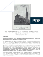 Clark Memorial Church, Largs - History