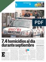 LPG20130924 - La Prensa Gráfica - PORTADA - pag 8 HV Sept 13 Homicidios 1