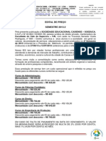 Edital de Precos Vestubular 2013 2