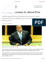 AG Salary Increases by Almost R1m | News | National | Mail & Guardian