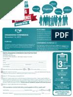 Organizing Conference Registration Form