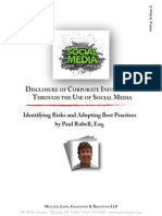 White Paper - Disclosure of Corporate Information Through the Use of Social Media