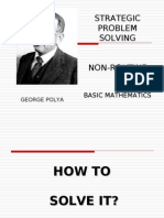 Polya Model (strategic problem solving)