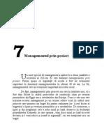 CAPITOLUL 7 - Managementul Prin Proiect