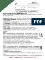 COMPRENSI{ON DE TEXTOS 4°-5° GRUPO B 10 DE AGOSTO-2013