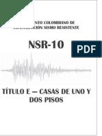 Nsr-10 Titulo e