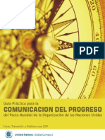 Guía Práctica par a la comunicación del progreso del pacto mundial de la organización de las naciones unidas