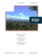 Paean To Mt. Diablo