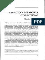 Espacio y Memoria Colectiva Halbwachs 1