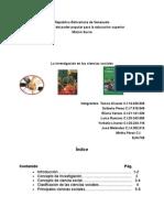 Monografia Sobre La Investigacion en Las Ciencias Sociales