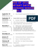 distinguished senior portfolio deadlines 2013-14