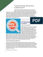 Cómo mejorar el posicionamiento web Uso de la investigación de palabras clave