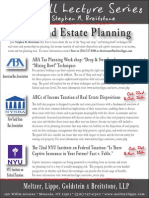 Stephen M. Breitstone Tax & Estate Planning Fall Lecture Series