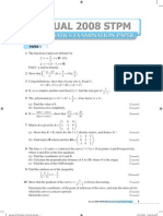 2008 STPM Maths T Q&A