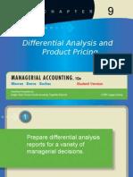 analisis diferencial y fijación de precios