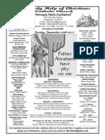 Parish Bulletin for September 29, 2013-13
