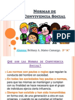 Normas de Convivencia Social (I)