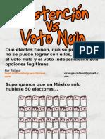 Abstención vs voto nulo... un punto de vista interesante
