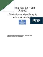 Aula 13 - ISA 5.1 MA - Símbolos e Identificação de Instrumentação