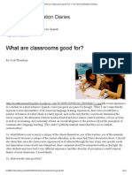 What Are Classrooms Good for - The (de-)Fossilization Diaries