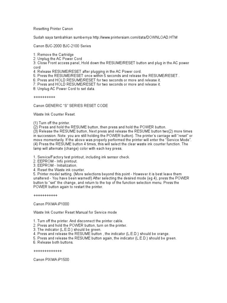 reset printer printer computing menu