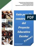 Guía para la construccion del PEE-PREESCOLAR 2013-2014 4septiembre 2013