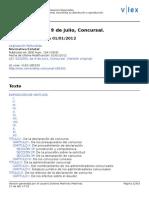 Ley Concursal. Actualizada 2012