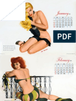 Esquire Calendar 1951 Illustration by Al Moore
