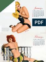 Esquire Calendar 1951 Illustration by Al Moore