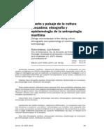 Diseño y paisaje de la cultura pescadora, etnografía y epistemología de la antropología marítima - Juan Antonio Rubio-Ardanaz