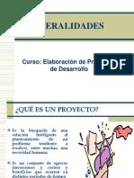 Primera Clase de Elaboracion de Proyectos