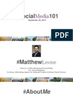 Social Media according to Matthew Leone