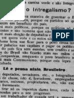 Panfleto Integralista estado de Minas Gerais