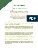 Struggle for Spiritual Perfection