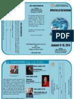 Agape Gathering 2014 Registration Brochure