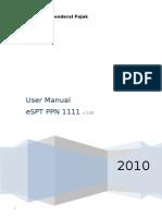 User Manual eSPT PPN 1111.doc
