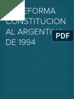 La Reforma Constitucional de 1994