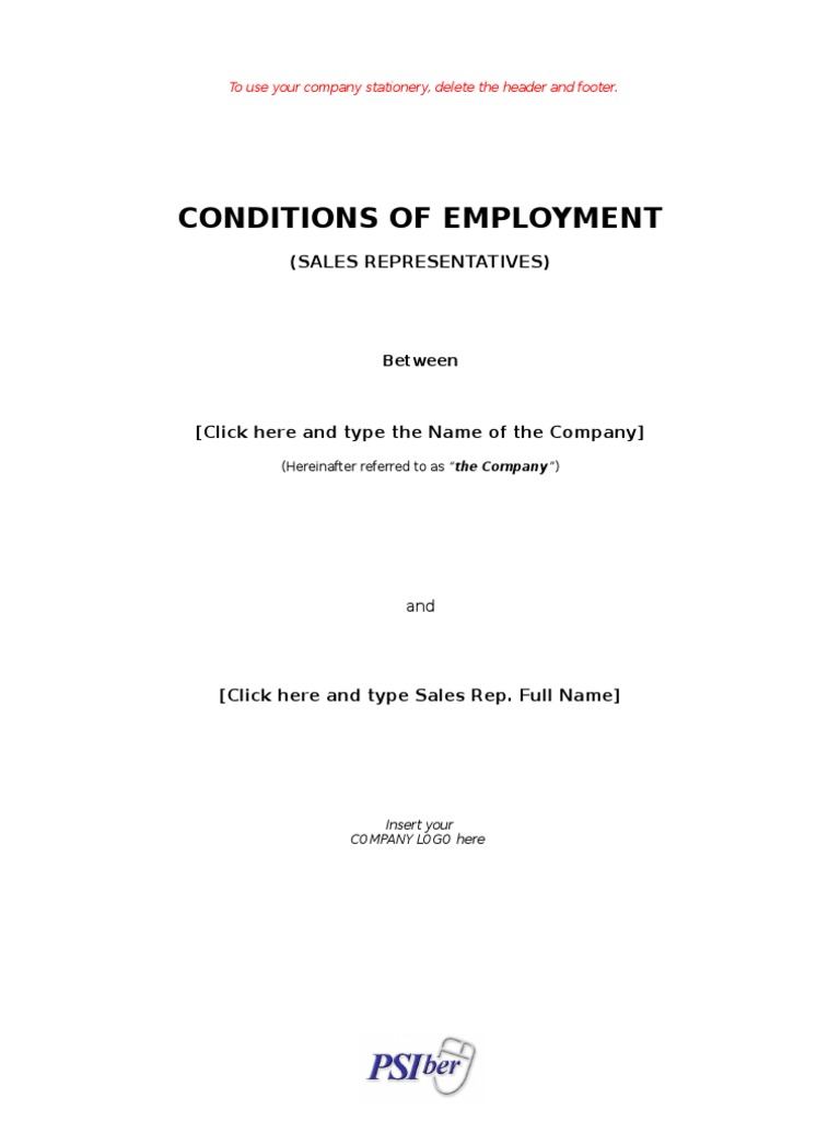 Employment contract sales staff sick leave employment yadclub Choice Image