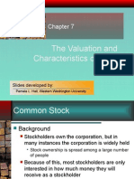 Chapter 07 Valuation & Characteristics of Stocks