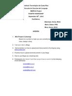 Workshop 4 Agenda