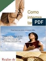 Conferencia Como Interprestar La Biblia