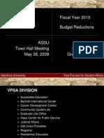 ASSU Budget Town Hall 5/27/09 - VPSA